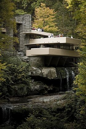 Fallingwater, Pennsylvanie. Source : Wikipédia. Auteur : Sxenko.